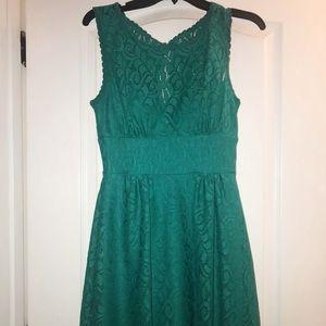 Beautiful green lace daytime dress